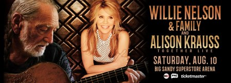 Willie Nelson, Allison Krauss Perform August 12 at BSSA
