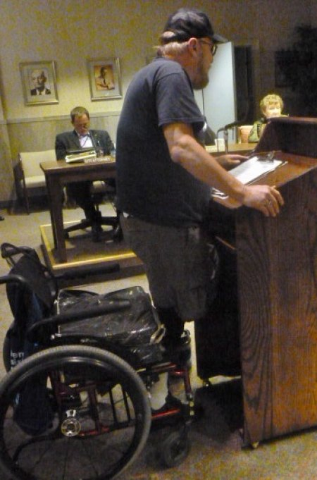 Vietnam Veteran Amputee Whose Late Mom's Car Was Crushed Asks  Council for Towing Firm Audit, Hearing that Includes Citizen Input