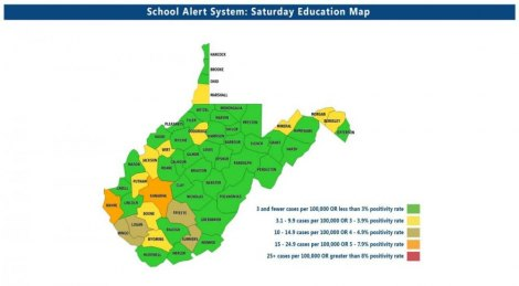 WV Dept. of Education Saturday Sept. 26 Update