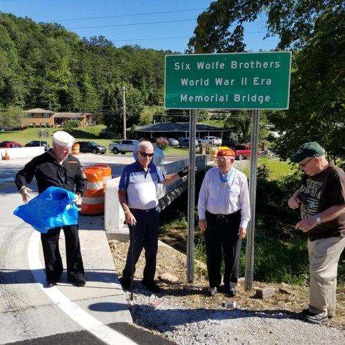 Six Wolfe Brothers WWII-Era Memorial Bridge Dedication