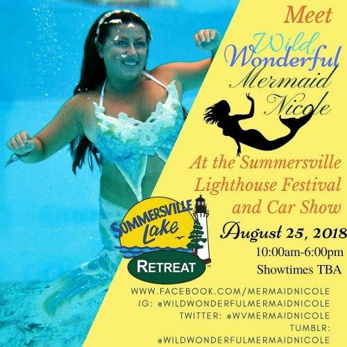 Mermaid Nichole Swims into Summersville