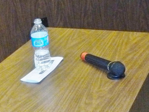 Sen. Manchin Drank Bottled Water During Huntington Forum