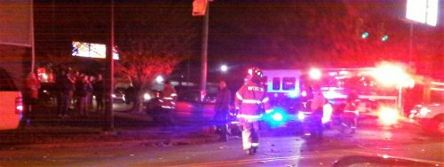 Wreck on 8th Avenue and Hal Greer at about 7 p.m. Thursday Dec. 22
