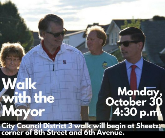 Downtown Mayoral Walk Monday