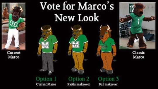 Herd fans to choose Marco costume from among three concepts