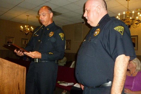 Police Chief Skip Holbrook and Capt. Hank Dial