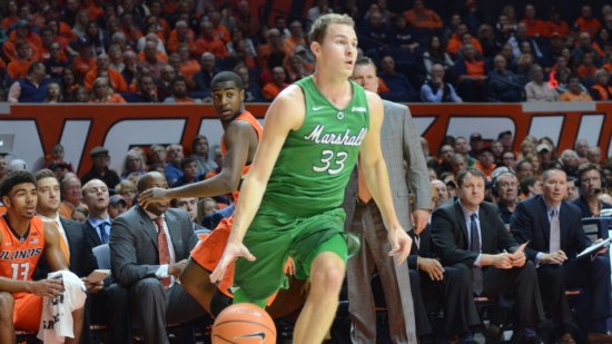 Marshall Men's Basketball Comes Up Short at Illinois