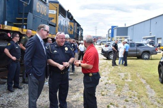 Spirit of Law Enforcement unveiled on Rails