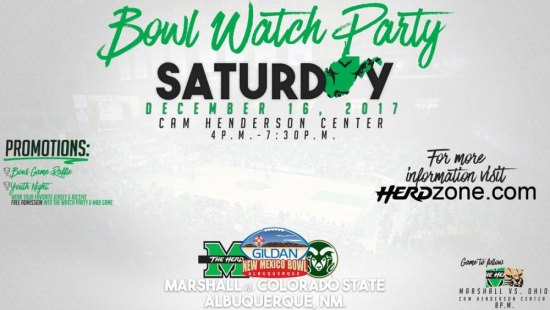 Herd Bowl Viewing Party Set Saturday at the Cam