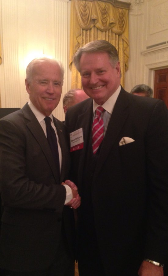 Mayor Williams with Vice President Biden