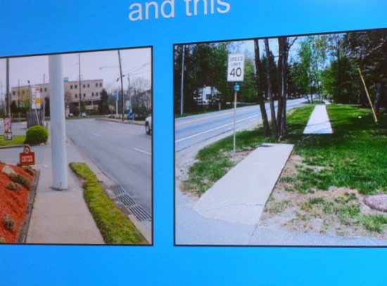 Slide of Infrastructure gone array. The city where it was taken considers these accessible areas for disabled