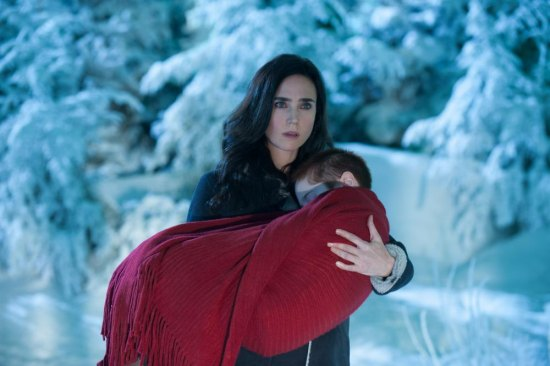 "JENNIFER CONNELLY as Virginia Gamely and RIPLEY SOBO as Abby in  romantic fantasy adventure ""WINTER'S TALE,"" distributed worldwide by Warner Bros. Pictures."