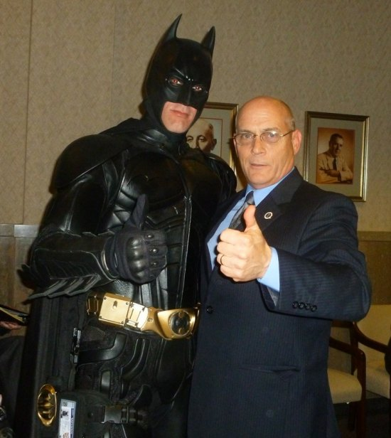 """Batman"" and Councilman Scott Caserta"