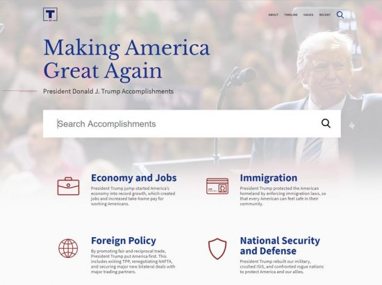 Trump Campaign Launches PromisesKept.com to Document President's Accomplishments
