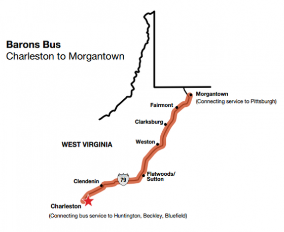 I-RIDE 79 Bus Service for West Virginia