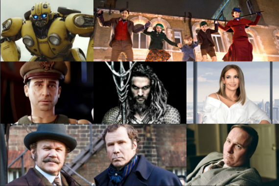 UPDATED   Here Come The Christmas Blockbusters  - Vice, Holmes & Watson,   Mary Poppins  Returns, Aquaman, Bumblebee
