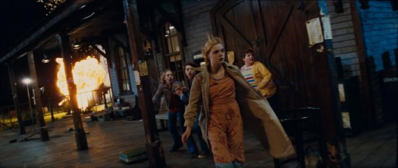 Left to right: Ryan Lee plays Cary, Joel Courtney plays Joe Lamb, Elle Fanning plays Alice Dainard, and Riley Griffiths plays Charles in SUPER 8, from Paramount Pictures. Photo credit: François Duhamel  © 2011 Paramount Pictures. All Rights Reserved.