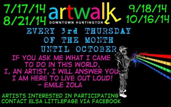 Huntington Art Walk Compliments Pullman Concert Series