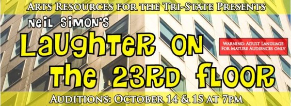 """Laughter"" Auditions Scheduled Oct. 14-15"