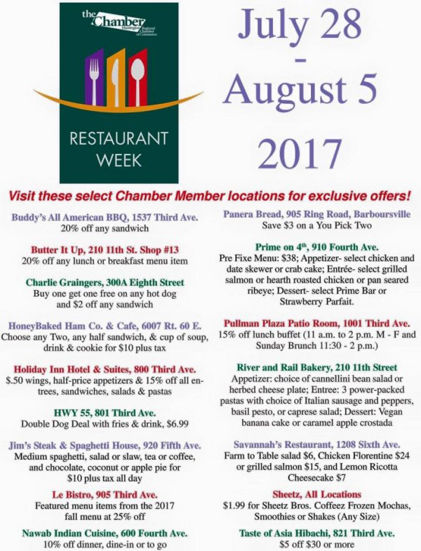 Huntington Restaurant Discount Week Underway
