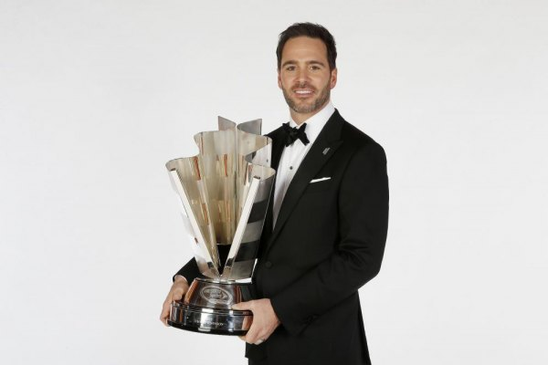 NASCAR Sprint Cup Series Champion Jimmie Johnson poses for a portrait prior to the NASCAR Sprint Cup Series Champion's Awards at Wynn Las Vegas on December 6, 2013 in Las Vegas, Nevada.