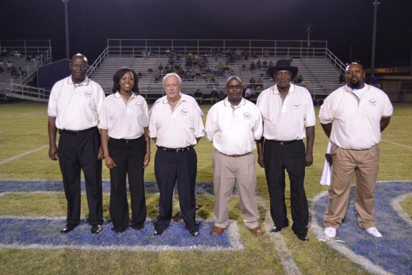 PHOTO: Randle (second from left) with fellow Forrest City Athletic Hall of Fame inductees