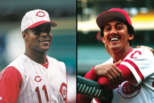 (L) Barry Larkin, (R) David Concepción