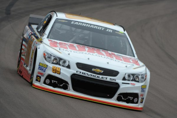 Dale Earnhardt Jr., driver of the #88 National Guard Chevrolet, practices for the NASCAR Sprint Cup Series The Profit on CNBC 500 at Phoenix International Raceway on March 1, 2014 in Avondale, Arizona.